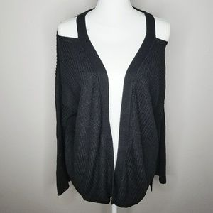 RD Style Cold Shoulder Cardigan Top Sweater Large
